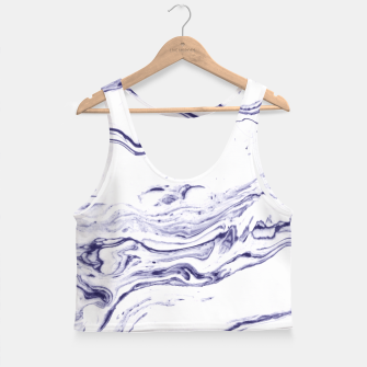 Thumbnail image of Navy Blue Marble Crop Top, Live Heroes