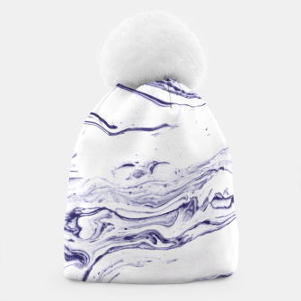 Thumbnail image of Navy Blue Marble Beanie, Live Heroes