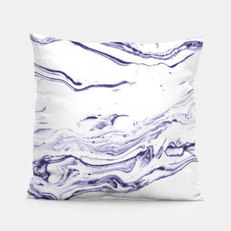 Navy Blue Marble Pillow thumbnail image