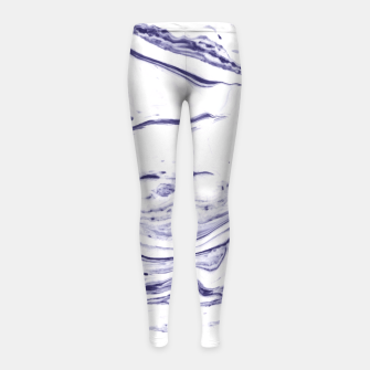Navy Blue Marble Girl's Leggings thumbnail image