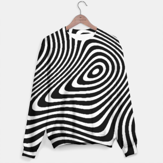 Black and White Mind Warp Sweater thumbnail image
