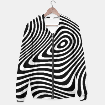 Black and White Mind Warp Hoodie thumbnail image