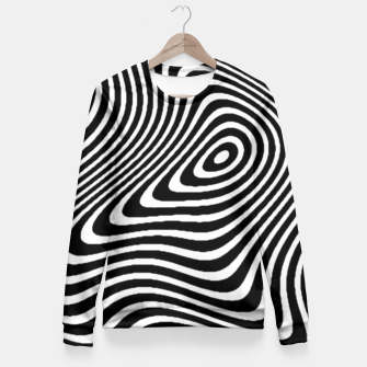 Black and White Mind Warp Fitted Waist Sweater thumbnail image