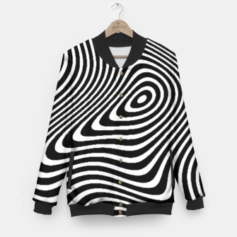 Black and White Mind Warp Baseball Jacket thumbnail image