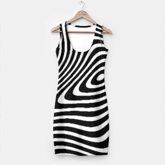 Black and White Mind Warp Simple Dress thumbnail image