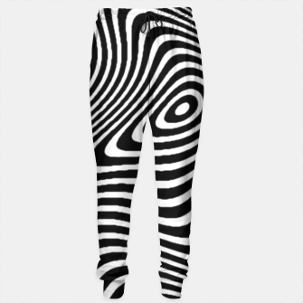 Black and White Mind Warp Sweatpants thumbnail image