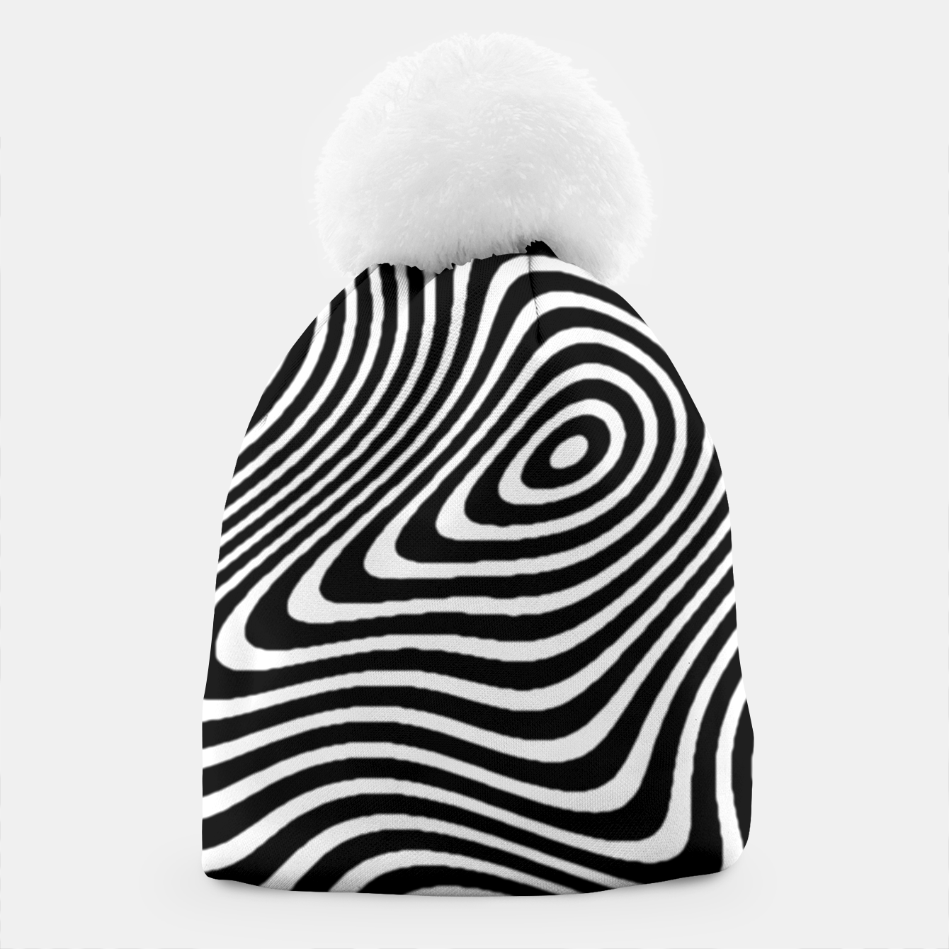 Image of Black and White Mind Warp Beanie - Live Heroes