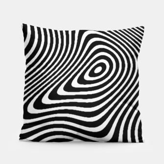 Black and White Mind Warp Pillow thumbnail image