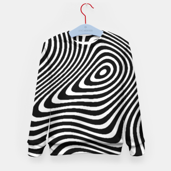 Black and White Mind Warp Kid's Sweater thumbnail image