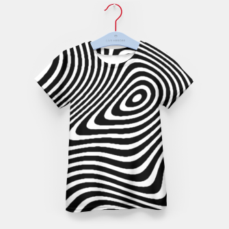 Black and White Mind Warp Kid's T-shirt thumbnail image