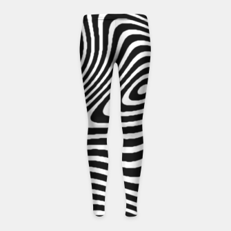 Black and White Mind Warp Girl's Leggings thumbnail image