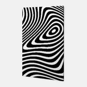 Black and White Mind Warp Canvas thumbnail image