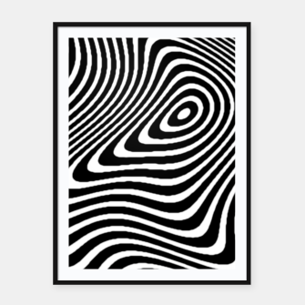 Black and White Mind Warp Framed poster thumbnail image