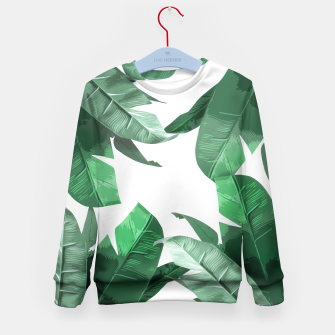 Thumbnail image of Banana Leaf Kid's Sweater, Live Heroes