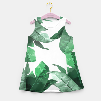 Thumbnail image of Banana Leaf Girl's Summer Dress, Live Heroes
