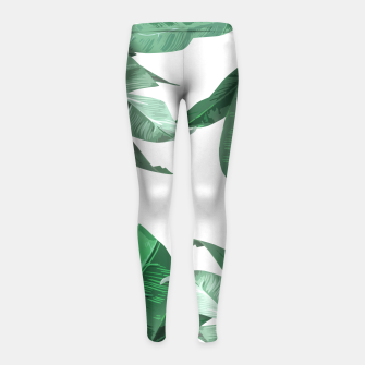 Thumbnail image of Banana Leaf Girl's Leggings, Live Heroes