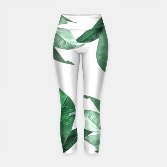 Thumbnail image of Banana Leaf Yoga Pants, Live Heroes