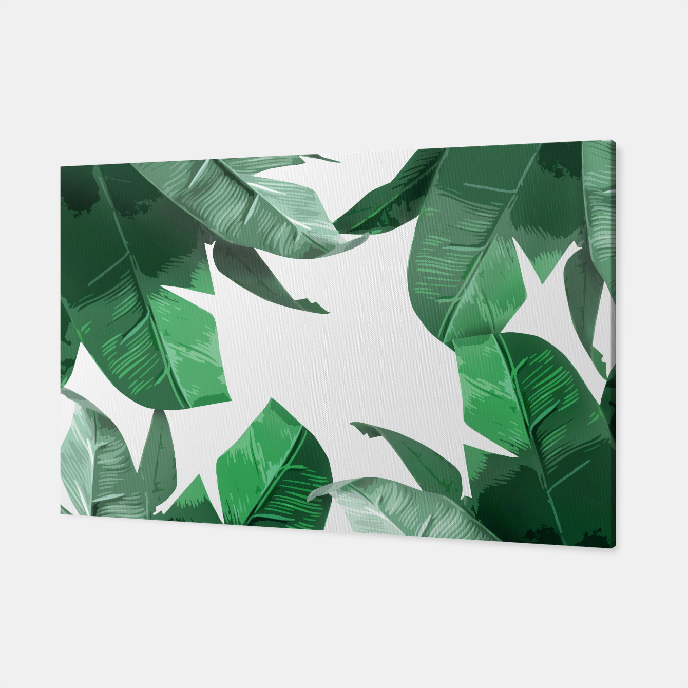 Image of Banana Leaf Canvas - Live Heroes