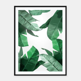 Thumbnail image of Banana Leaf Framed poster, Live Heroes