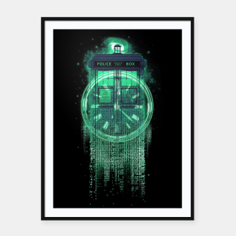 Thumbnail image of Tardis Matrix Framed poster, Live Heroes