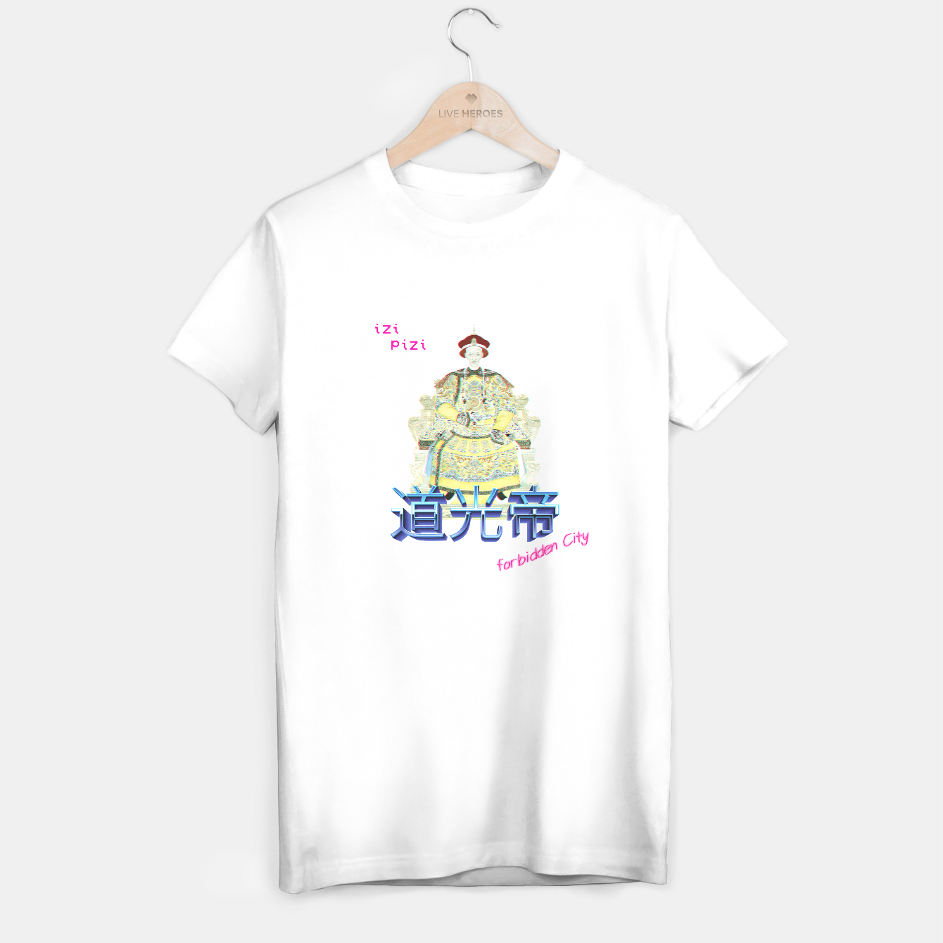 Image of RETRO DAOGUANG EMPEROR WHiTE  T-shirt regular - Live Heroes