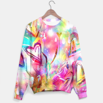 Thumbnail image of Bursting Hearts  Sweater, Live Heroes