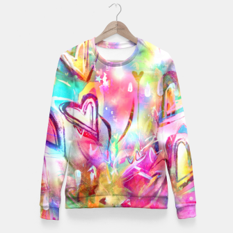 Thumbnail image of Bursting Hearts  Fitted Waist Sweater, Live Heroes