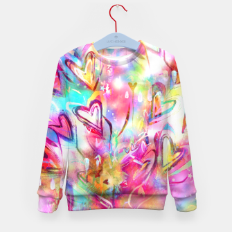 Thumbnail image of Bursting Hearts  Kid's Sweater, Live Heroes