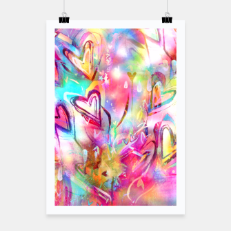 Thumbnail image of Bursting Hearts  Poster, Live Heroes