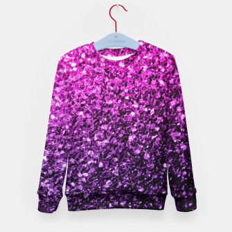 10ae1f81 ... Beautiful Purple Pink Ombre glitter sparkles Kid's Sweater thumbnail  image