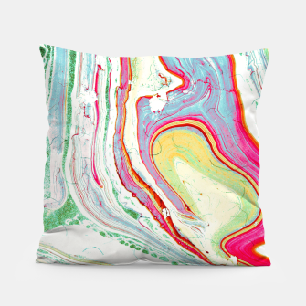 Miniatur Light marbled paper Almohada, Live Heroes