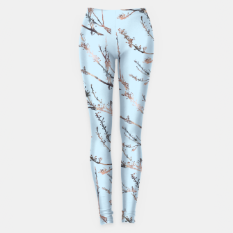 Thumbnail image of Blossom on blue Leggings, Live Heroes