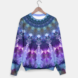 Regal Blue and Purple Kaleidoscope Half  Sweater thumbnail image