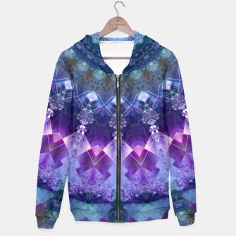 Regal Blue and Purple Kaleidoscope Half  Hoodie thumbnail image