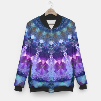 Regal Blue and Purple Kaleidoscope Half  Baseball Jacket thumbnail image
