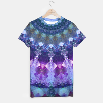 Regal Blue and Purple Kaleidoscope Half  T-shirt thumbnail image