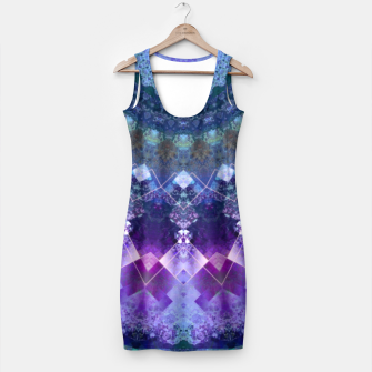 Regal Blue and Purple Kaleidoscope Half  Simple Dress thumbnail image