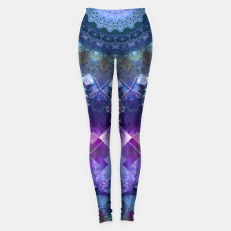 Regal Blue and Purple Kaleidoscope Half  Leggings thumbnail image