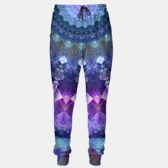 Regal Blue and Purple Kaleidoscope Half  Sweatpants thumbnail image