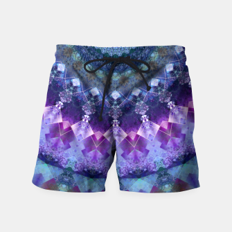 Regal Blue and Purple Kaleidoscope Half  Swim Shorts thumbnail image