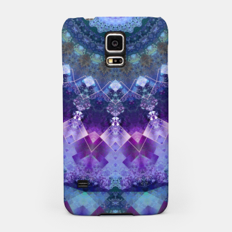 Regal Blue and Purple Kaleidoscope Half  Samsung Case thumbnail image