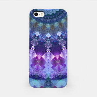Regal Blue and Purple Kaleidoscope Half  iPhone Case thumbnail image