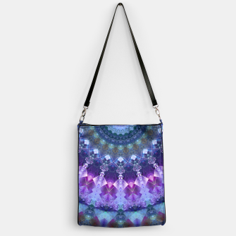 Regal Blue and Purple Kaleidoscope Half  Handbag thumbnail image