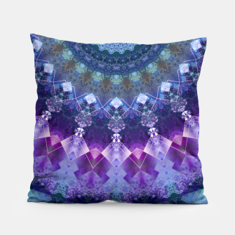 Regal Blue and Purple Kaleidoscope Half  Pillow thumbnail image