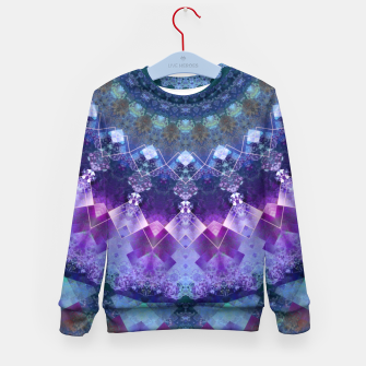 Regal Blue and Purple Kaleidoscope Half  Kid's Sweater thumbnail image