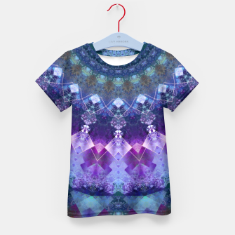 Regal Blue and Purple Kaleidoscope Half  Kid's T-shirt thumbnail image