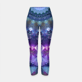 Regal Blue and Purple Kaleidoscope Half  Yoga Pants thumbnail image