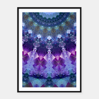 Regal Blue and Purple Kaleidoscope Half  Framed poster thumbnail image
