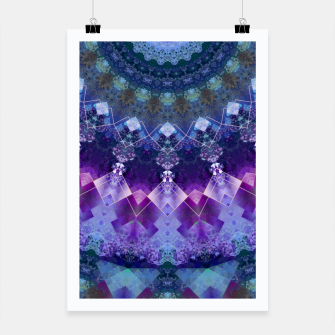 Regal Blue and Purple Kaleidoscope Half  Poster thumbnail image