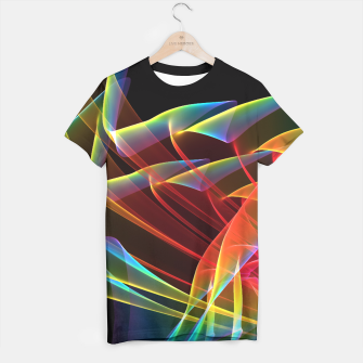 Thumbnail image of Dancing Northern Lights, Abstract Summer Sky T-shirt, Live Heroes